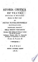 Storia Critica de' Teatri
