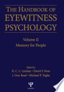 Handbook Of Eyewitness Psychology 2 Volume Set Book PDF