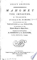 Mahomet, the Impostor, a Tragedy