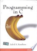 Programming in C  2 e