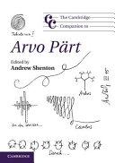 The Cambridge Companion to Arvo P  rt