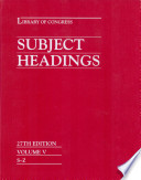 Library of Congress Subject Headings