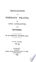 Recollections of Foreign Travel