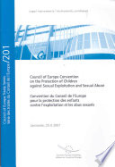 Convention Du Conseil de L'Europe Pour la Protection Des Enfants Contre L'Exploitation Et Les Abus Sexuels
