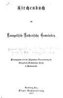 Kirchenbuch für Evangelisch-Lutherische Gemeinden