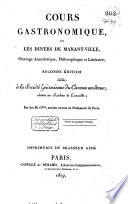 illustration du livre Cours gastronomique, ou, Les diners de Manant-ville