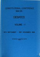 Constitutional Conference 1994 95 Debates  19th September 21st November 1994