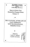 The cultural after life of East Germany