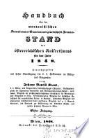 Handbuch über den montanistischen Staatsbeamten-, Gewerken- und gewerkschaftl. Beamten-Stand des österreichischen Kaiserstaates