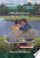 Marriage in Name Only
