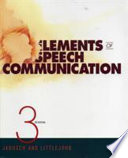 Elements of Speech Communication