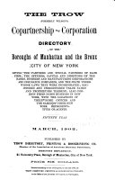 The Trow (formerly Wilson's) Copartnership and Corporation Directory of New York City