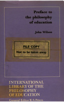 Preface to the Philosophy of Education