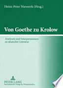 Von Goethe zu Krolow