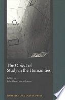 Ebook The Object of Study in the Humanities Epub Julio Jensen Apps Read Mobile