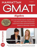 Algebra GMAT Strategy Guide  5th Edition