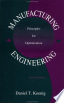 Manufacturing Engineering Principles For Optimization