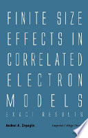 Finite Size Effects in Correlated Electron Models