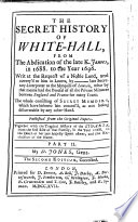 The Secret History Of White Hall