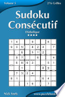 illustration Sudoku Consécutif - Diabolique - Volume 5 - 276 Grilles