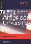 Getting Into American Universities