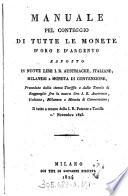 Manuale Pel Conteggio Di Tutte Le Monete D Oro E D Argento
