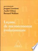 Leçons de microéconomie évolutionniste