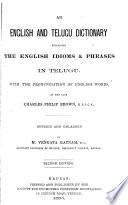 An English and Telugu Dictionary Explaining the English Idioms   Phrases in Telugu