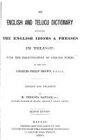 An English and Telugu Dictionary Explaining the English Idioms & Phrases in Telugu