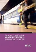Gb Rail Timetable Winter Edition 13