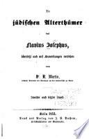 Die jüdischen Alterthümer des Flavius Josephus