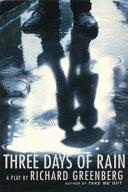 Three Days of Rain by Richard Greenberg