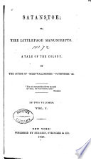 Satanstoe  Or  The Littlepage Manuscripts