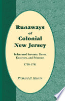 Runaways of Colonial New Jersey