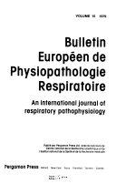 Bulletin euorpeen de physiopathologie respiratoire