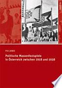 Politische Massenfestspiele in Österreich zwischen 1918 und 1938