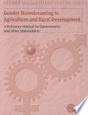 Gender Mainstreaming in Agriculture and Rural Development
