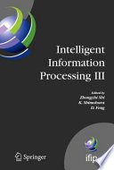 Intelligent Information Processing Iii
