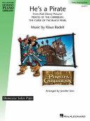 He's a Pirate: Hal Leonard Student Piano Library Showcase Solo Level 4/Intermediate
