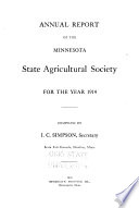 Annual Report of the Minnesota State Agricultural Society for the Year
