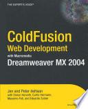 Coldfusion Web Development With Macromedia Dreamweaver Mx 2004