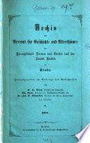 Archiv des Vereins für Geschichte und Altertümer der Herzogtümer Bremen und Verden und des Landes Hadeln zu Stade