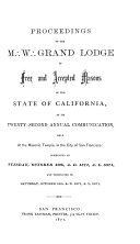 download ebook proceedings of the m [three dots in triangular formation̈ w [three dots in triangular formation̈ grand lodge of free and accepted masons of the state of california at its annual communication pdf epub