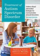 Treatment Of Autism Spectrum Disorder
