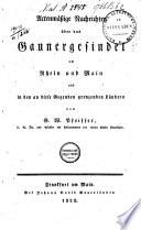 Actenmässige Nachrichten über Gaunergesindel in den Rhein- und Maingegenden