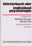 W  rterbuch der Individualpsychologie