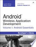 Android Wireless Application Development Volume I
