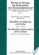 Quality of Education and Culture