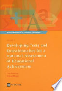 Developing Tests and Questionnaires for a National Assessment of Educational Achievement