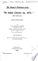 The Indian Contract Act  1872  Act IX of 1872
